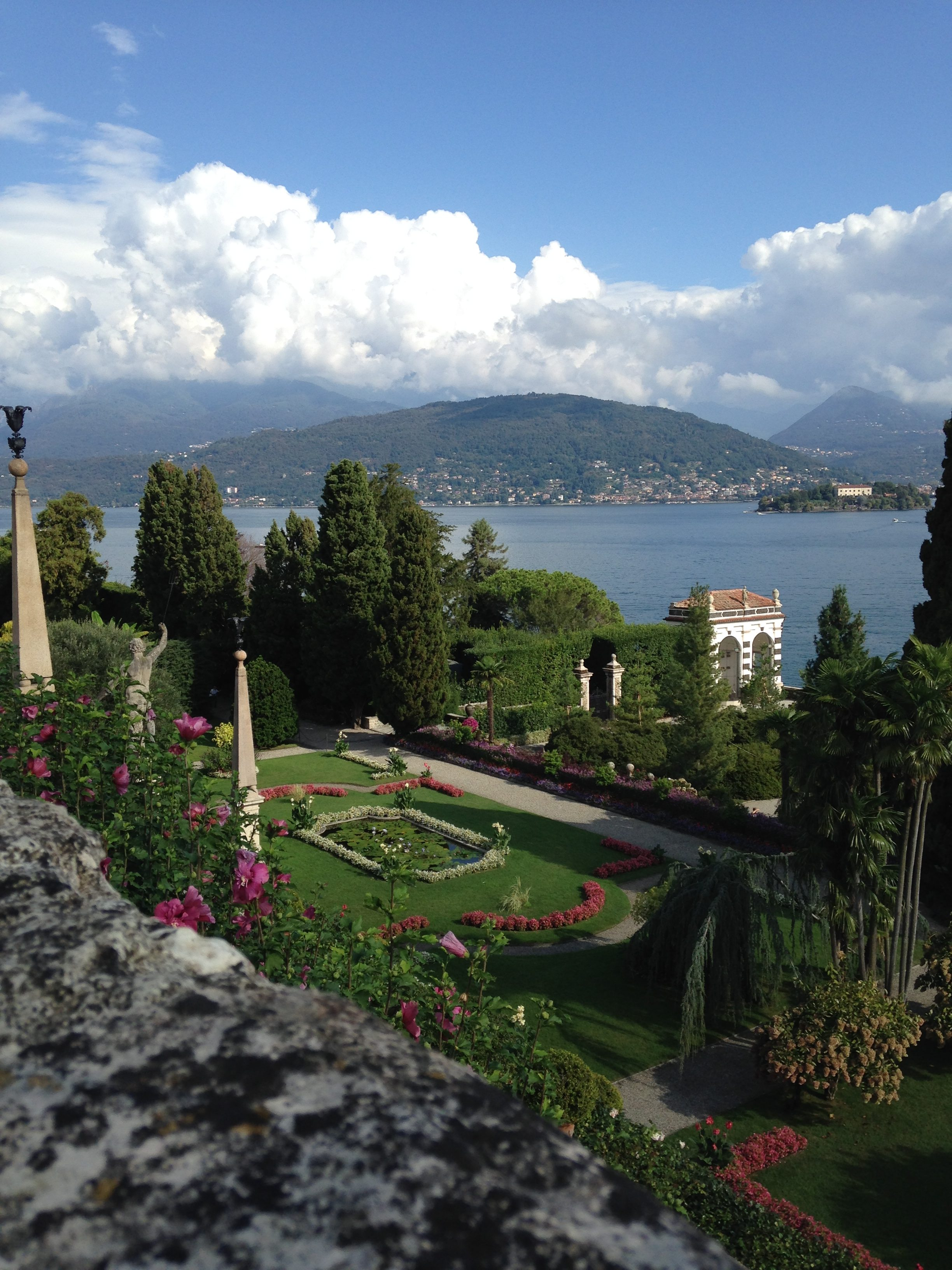 Gardens on Isola Bella in Lake Maggorie, Northern Italy, September 2016