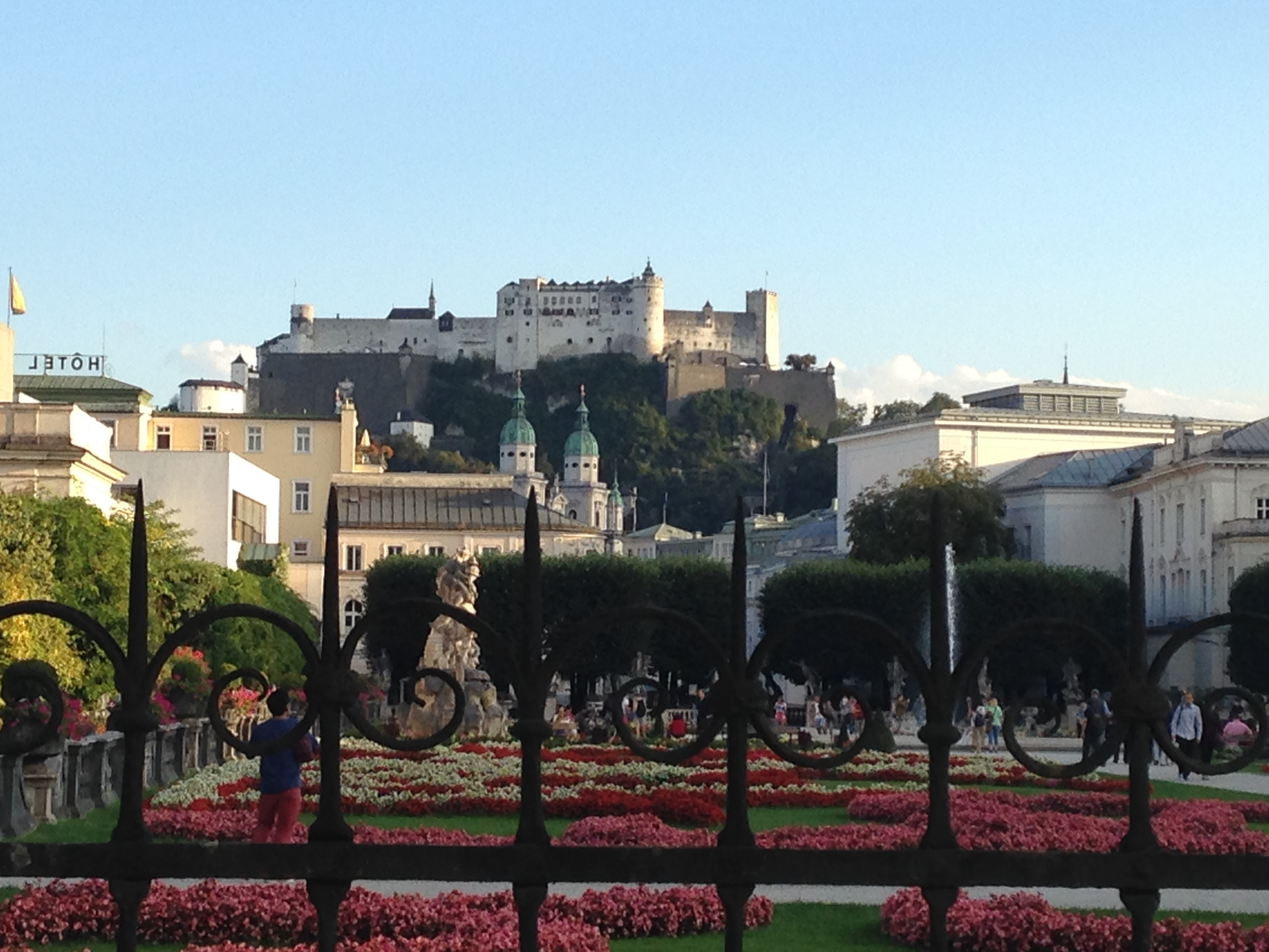 Fortress overlooking Salzburg, Austria, September 2016